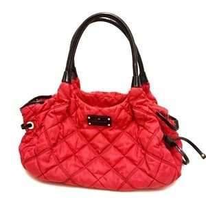 Kate Spade Stevie Quilted Nylon Satchel Handbag